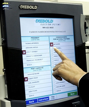 Altered voting machine?