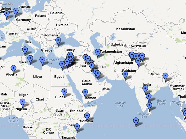MAP] Muslim Protests from Around the World | Law Enforcement ... on