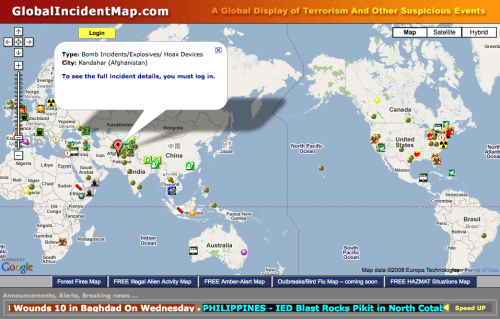 Global Incident Map VIDEO] Global Real Time Terrorism Incident Map | Law Enforcement  Global Incident Map